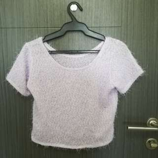 Lavender Cropped Top