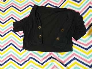 Black Blazer/Bolero with buttons