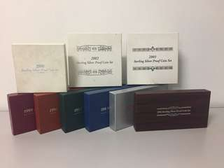 Sterling Silver Proof Coin Sets - 9 sets at $888