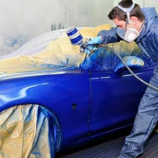 Paint spraying service for cars