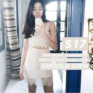 INSTOCKS Merci Lace Skirt - White