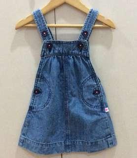 Carter's denim jumper dress (12 months)