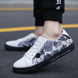 DESIGN PRINTED CASUAL COMFORTABLE CANVAS SHOES
