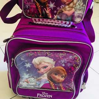 Disney Frozen Trolley Backpack with Lunch Bag