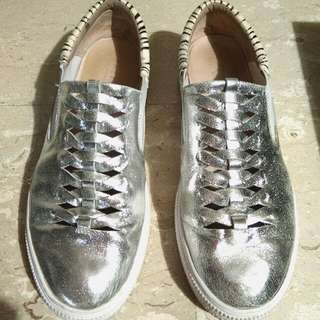 Pazzion Silver Sneakers