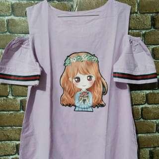 Dress ungu freee size