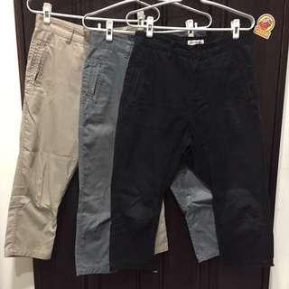 Dickies x nano•universe 老爺褲飛鼠褲 低襠褲 黑/鐵灰/卡其