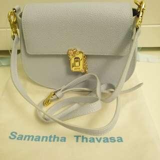 Samantha Thavasa粉藍小手袋