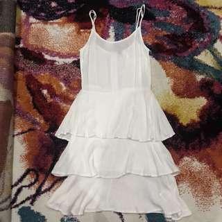 H&M Chiffon Layered Dress