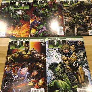 Marvel World War Hulk #1-5 COMPLETE