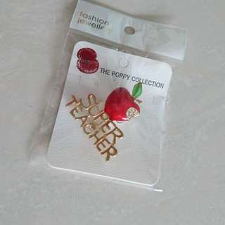 Teachers' day gifts pin best teacher. Free postage