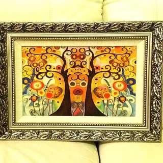 景泰式珐瑯掐絲工藝畫 Handicraft Cloisonne Enamel Inlayed Painting