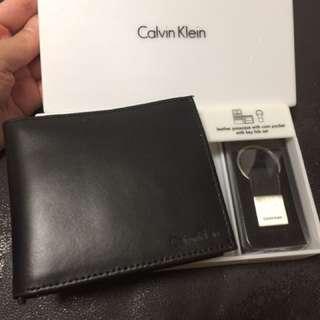購自美國 Calvin Klein leather wallet with money clip 真皮銀包