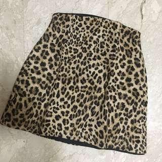 Zara Leopard Prints High Waist Skirt