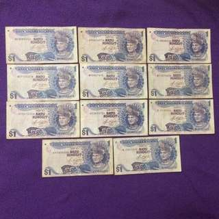 Malaysia Old Banknotes