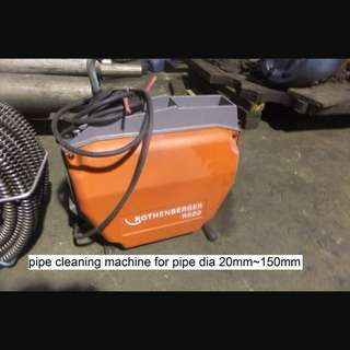PIPE CLEANING MACHINE ROTHENBERGER R600 complete with 50M SPIRAL and ACCESSORIES