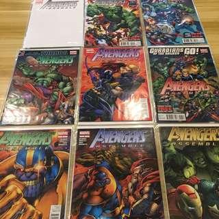 Marvel Avengers Assemble #1 Blank Variant, #2-13