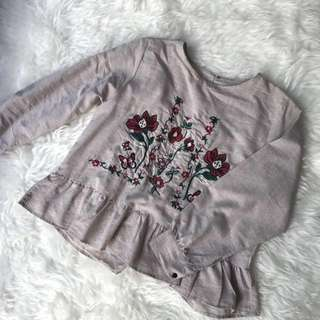 [TURUN HARGA NO NEGO] CREAM EMBROIDERY TOP