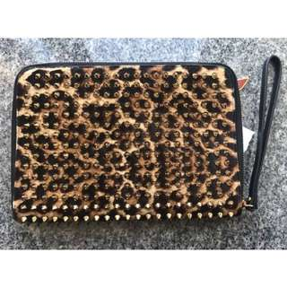Christian Louboutin spiked leopardpattern ipad mini case