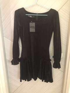 Vock 黑色絨布連身裙 gothic