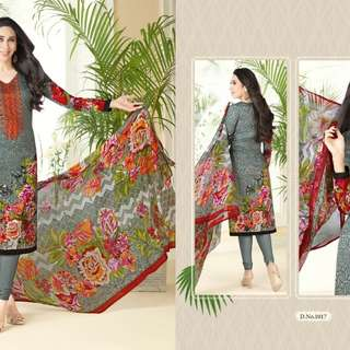 Pure Cotton Straight Cut Salwar Kameez