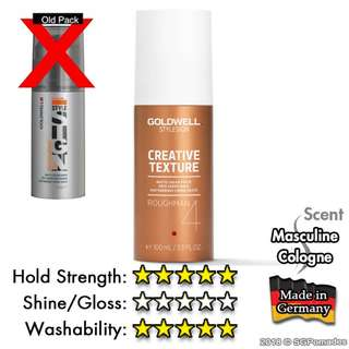 (Free mail) Goldwell Roughman Matte Cream Paste 100ml - sg pomade