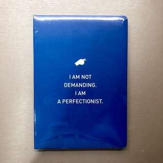 Epigram notebook: demanding / perfectionist