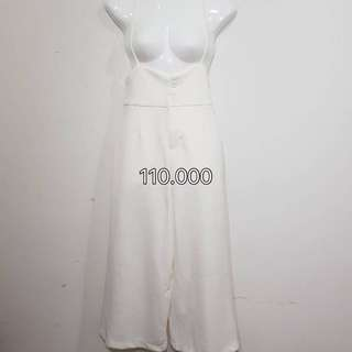 Jumsuit white cullote