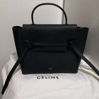 Celine Micro Belt Handbag (Dark Navy)