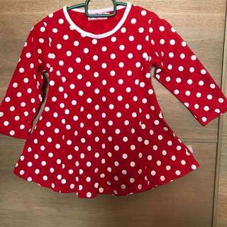 Red polkadot top (princess cut)