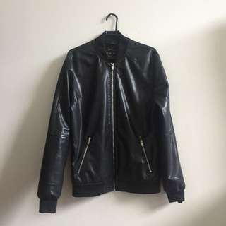 Bershka Leather Jacket Size Medium