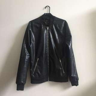 Bershka Leather Jacket Size Medium