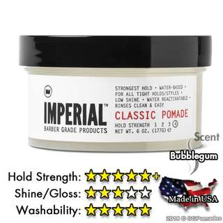 (Free mail) Imperial Barber Classic Pomade 177ml