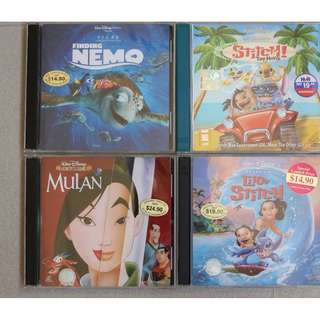 VCD : Walt Disney Classics 1.Finding Nemo  2.Mulan  3.Lilo & Stitch  4.Stitch