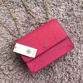 Tory Burch Robinson Convertible Chain Shoulder Bag Pink