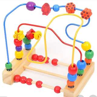 Educational Wooden Baby Bead Wire Maze Toy
