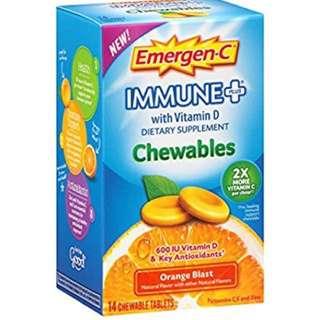 Emergen-C  Immune+ Chewables Orange Blast