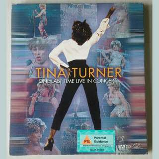 VCD: Tina Turner One Last Time Live In Concert