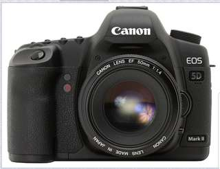 Canon 5D Mark II plus body grip