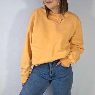 Orange Creamsicle Crewneck Sweater