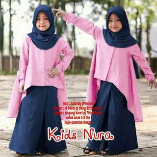 Laura Set Kid set 3in1 fashion muslim anak perempuan