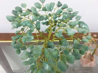 Aventurine Green Quartz Gem Stone Tree