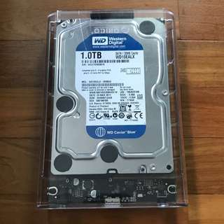 Western Digital Hard Disk 1TB with Cover Case