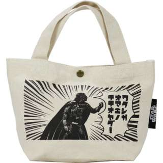 Japan Disney Star Wars Balloon Vader Print Canvas Mini Tote Bag Preorder
