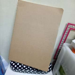 Blank Notebook (Kraft and Black)