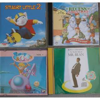 VCD    1.Mr Bean  2.Recess Christmas  3.Tommy & Oscar  4.Stuart Little 2
