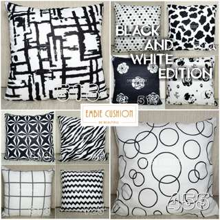 EMBIE - Cushion Cover - 40x40 cm - Black and White Edition