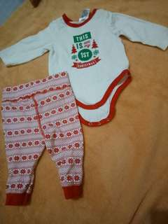 1st Christmas Onesie and leggings