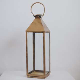 Candle Lantern (Gold Colour) For Rental