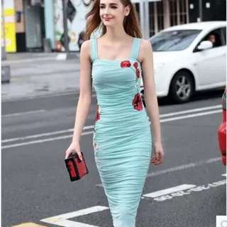 Dress floral body weight within 60 kg